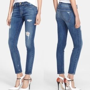 Current/Elliot The Stiletto Destroyed Skinny Jeans